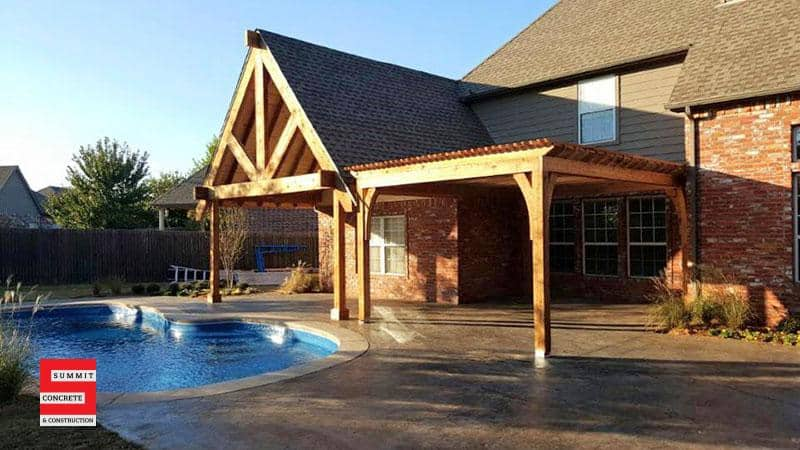 Outdoor Construction Pergolas Summit Concrete 30