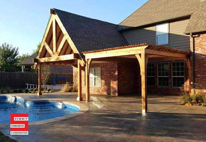 Outdoor Construction Pergolas Summit Concrete 36