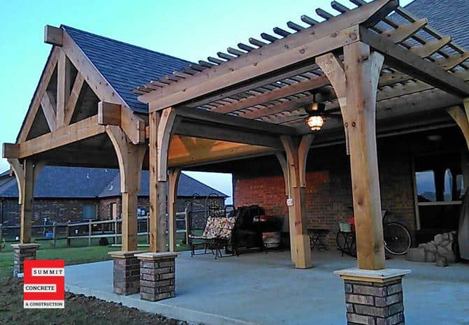 Outdoor Construction Pergolas Summit Concrete 38