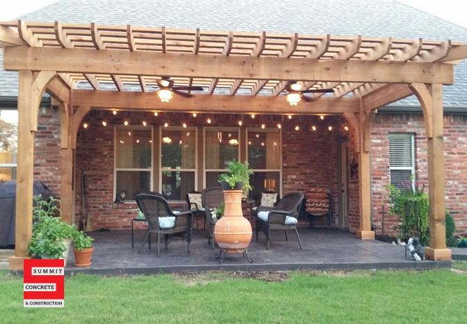 Outdoor Construction Pergolas Summit Concrete 40